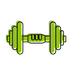 Dumbbell weightlifitng icon image vector