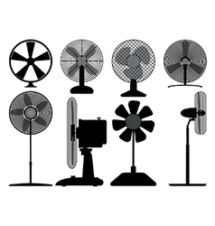 Electric fans vector