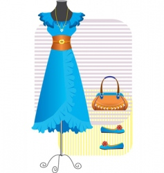 fashion clothes for woman vector image vector image