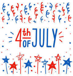 Fourth of july greeting card vector