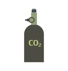 Gas hand grenade flat icon vector