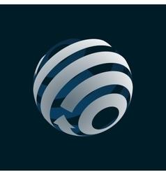 Globe logo element symbol of globalization vector