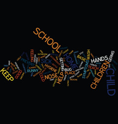 Good health at school text background word cloud vector