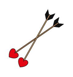 Love arrows vector