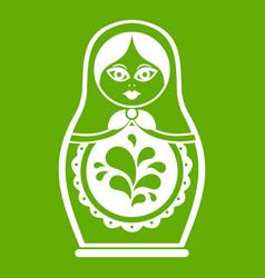 matryoshka icon green vector image vector image