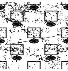 Monitor pattern grunge monochrome vector