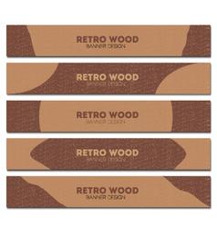 retro wood banner vector image vector image
