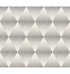 Seamless Black and White Stippling Halftone vector image vector image