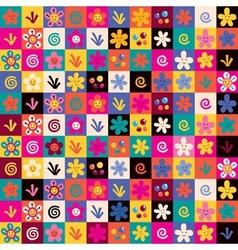Sweet flowers pattern vector