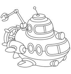 toy deepsea submarine vector image