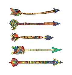 tribal arrows vector image