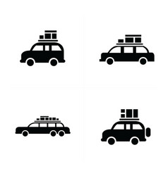 Van logistics and transport icons vector