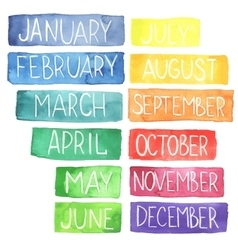 watercolor calendar vector image