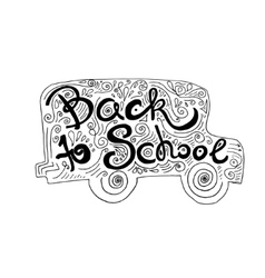 Back to School hand lettering vector image