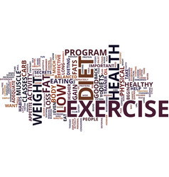 Good health begins with diet and exercise text vector