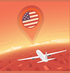 United states flight destination vector