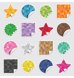 Polygon stickers vector