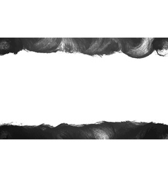 Black painted frame background vector
