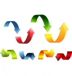 3d arrow set colorful vector image vector image