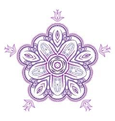 monochrome flower mandala on a contrasting vector image