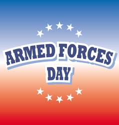 Armed forces day america banner on red and blue vector