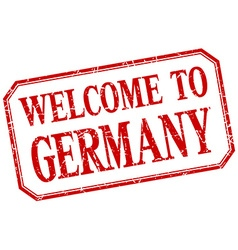 Germany - welcome red vintage isolated label vector