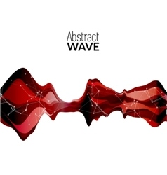 Abstract musical wave background sound vector image