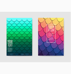 abstract trendy futuristic posters background vector image vector image