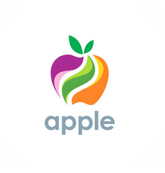 apple fruit logo vector image