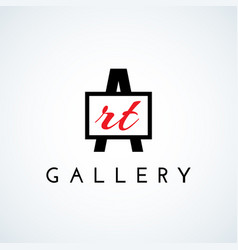 Art gallery logo vector