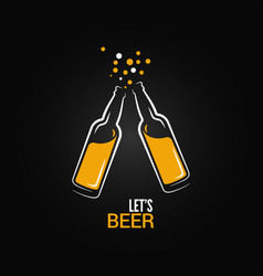 beer bottle drink splash design background vector image vector image