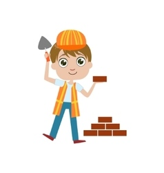 Boy future construction worker vector