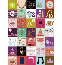 Christmas and New Year greeting calendar vector image vector image