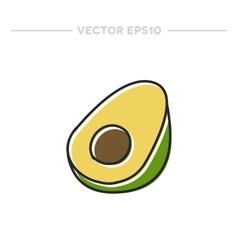Doodle icon avocado vector