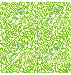 Eco friendly concept-seamless hand drawn pattern vector image