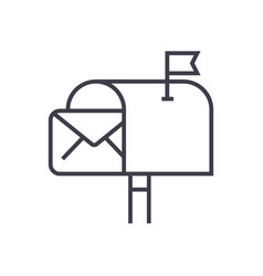 email deliverymail marketing line icon vector image vector image