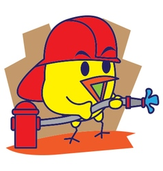 Firefighter Bird vector image