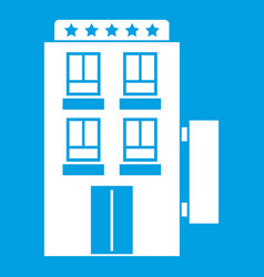 Five star hotel icon white vector