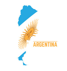 Flag and map of argentina vector