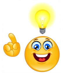 idea emoticon vector image vector image