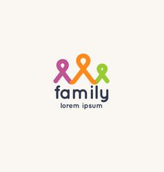 Logo family and social solidarity vector