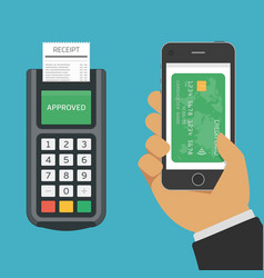 Mobile payments using smartphone vector