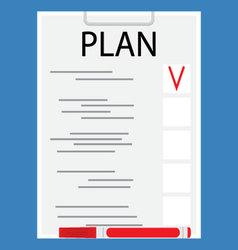 Plan document flat design vector