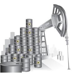 realistic industrial pupmjack vector image vector image