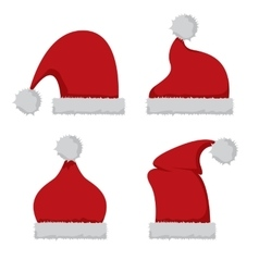 red Santa hat icon isolated on white vector image