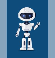 robot waving and greeting vector image