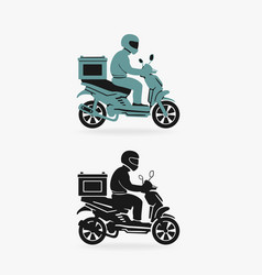 scooter delivery symbol vector image
