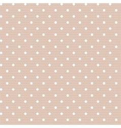 Seamless polka dot vintage pattern vector image vector image