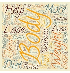 Simple ways to lose weight text background vector