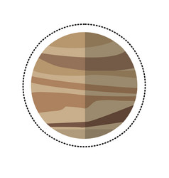 Venus planet space shadow vector